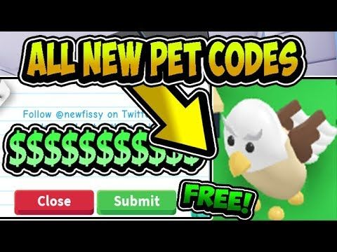 """ALL FREE ADOPT ME PETS UPDATE CODES 2019!!"""" 😻 Adopt Me"""