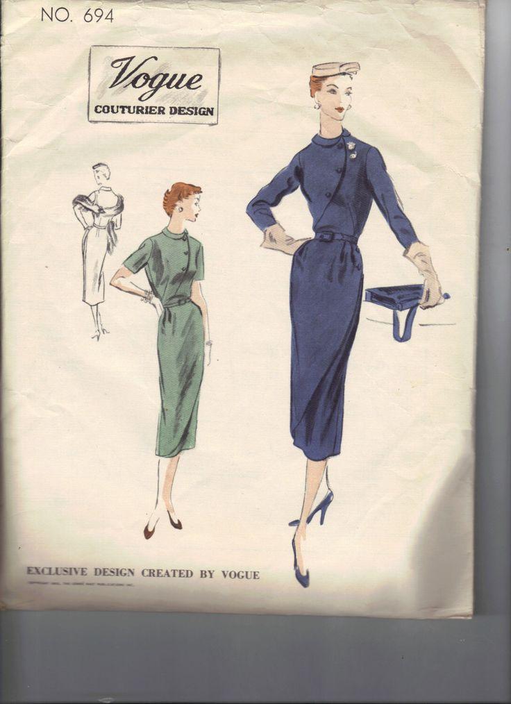 Abito cartamodello donna vintage 1950, Vogue Couturier 694, taglia 16 di AtomicRegeneration su Etsy https://www.etsy.com/it/listing/121060257/abito-cartamodello-donna-vintage-1950