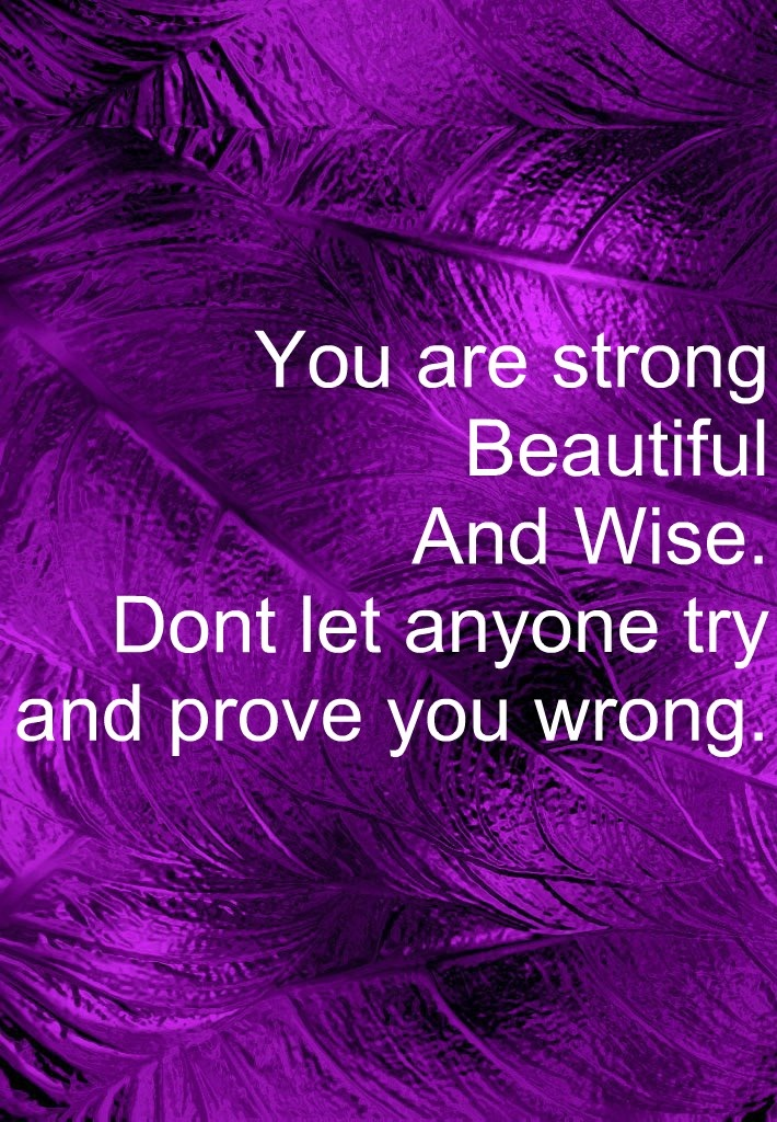 You are. Purple