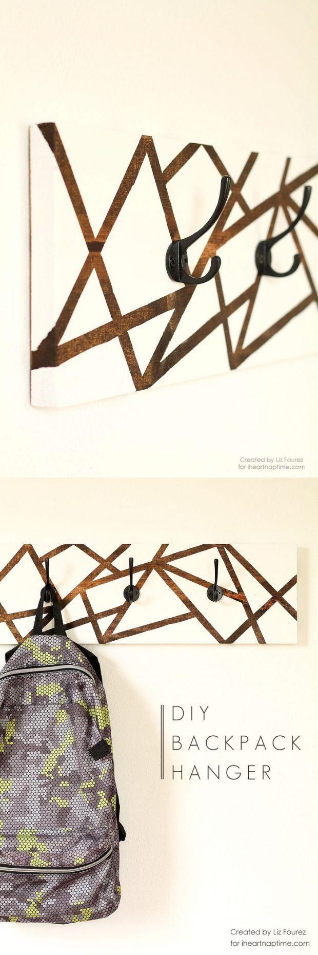 Geniale DIY Garderobe schnell gemacht mit Tape