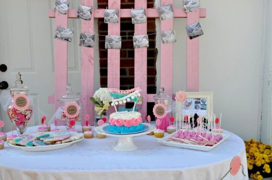Pink and Blue Shabby Chic Birthday Party - #shabbychic #birthdayparty #ProjectNursery