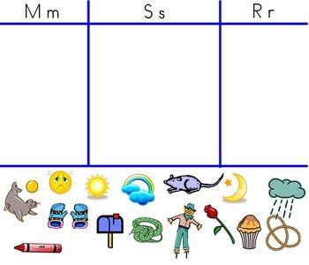 Alphabet Letter Smartboard Sort