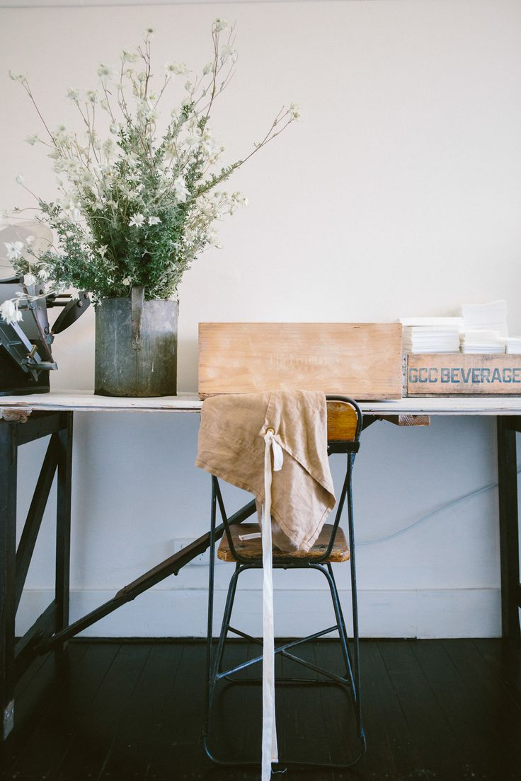 simple, modern rustic office. kinfolk issue 11. photo by luisa brimble.