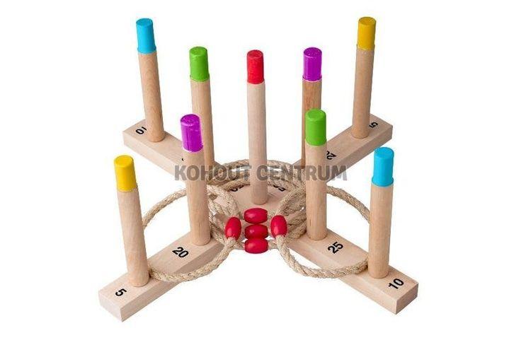 Házení kroužků - dřevěná hra