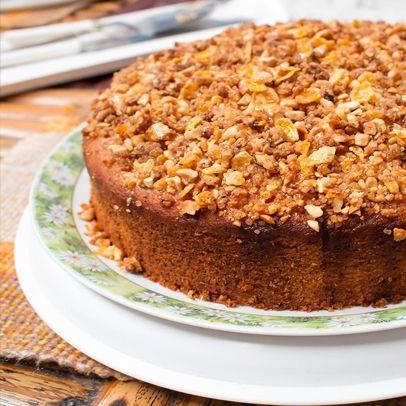 Hrnkový ořechový koláč
