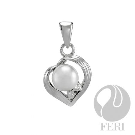 An amazing item from the FERI designer lines collection for $165 only. Message us to get 20% off.  Details  - 925 fine sterling silver  - 0.5 micron natural rhodium plating  - Set with AAA white cubic zirconia and white glass pearl  Our new customers enjoy a $15 shopping credit and upto 10% rebate on purchases.  We are also hiring and expanding our team so if you are looking to make some additional income on the side & be part of an exciting industry visit http://opportunity.feristore.com