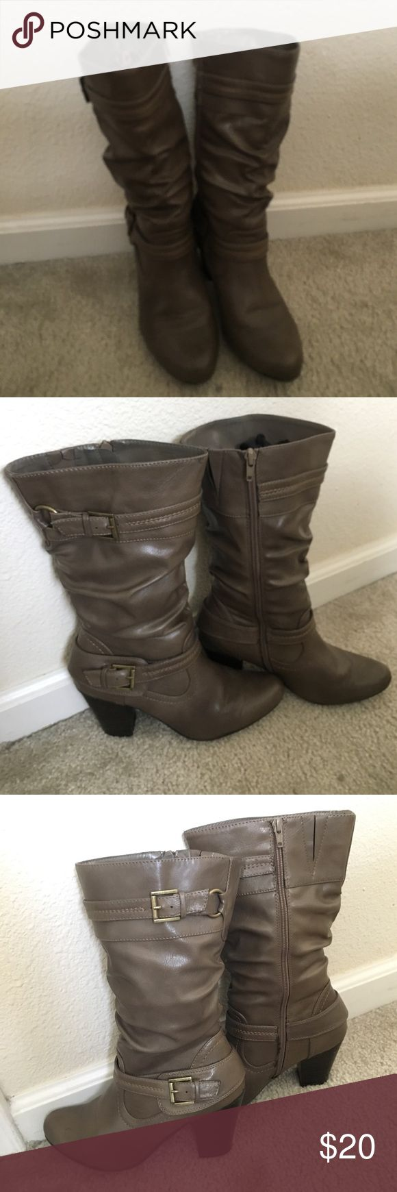 """White Mountain Mid Calf Boots Mid calf boots from White Mountain.                      Size: 7.5 & Block Heel: 3"""". Shoes Heeled Boots"""