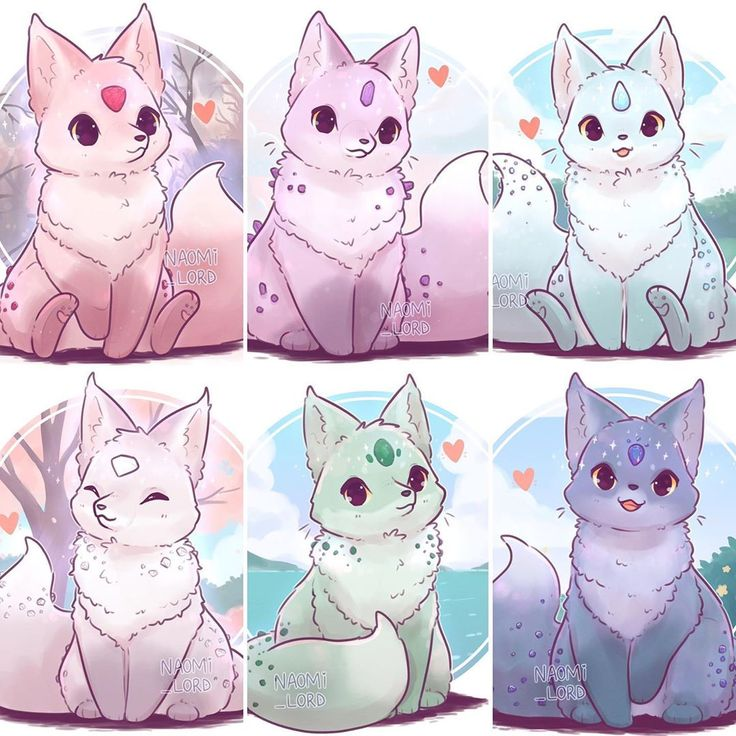 naomi lord foxes drawings birthstone fox kawaii animal drawing january starting mythical cats creatures far left