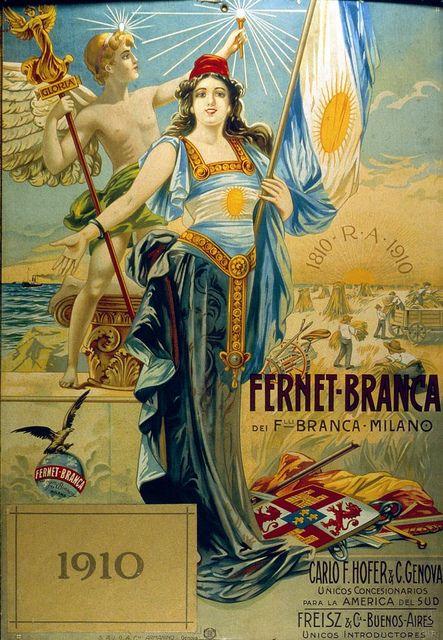 Fernet Branca. Afiche 1910. Centenario Argentina by 90+10, via Flickr