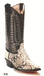 The Cowtown Back Cut Python Western Cowboy Boots are being offered at a real bargain price.  Cowtown expert bootmakers have crafted this Python skin into a handsome western cowboy boot in El Paso TX USA. Don't forget to get a matching  belt to set off the look of your Python boots!   Please visit our belt page for details.  Boot Care Kit Includes: 1 Bickmore Cream polish 2oz 1 Bickmore Travel Kit contains: 2 oz. bottles of Bick 1 and Bick 4, a cleaning cloth and a leather care