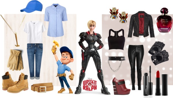 """Fix-It Felix Jr. & Sergeant Calhoun"" by tinkerbull ❤ liked on Polyvore"