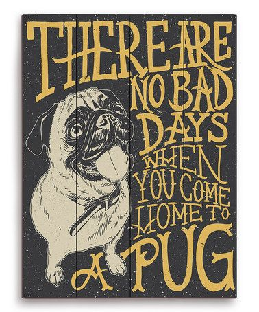 This Black Pug Typography Wall Art by PetPictures is perfect! #zulilyfinds