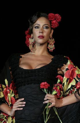Flamenca at Seville April Fair held in the Andalusian capital of Seville, Spain.