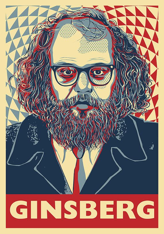 Allen Ginsberg - Beat Generation Poet, BuA Poster on Etsy                                                                                                                                                                                 More