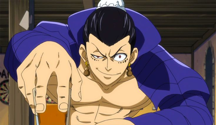 Bacchus is the name of a character in a show called Fairy Tail, and he is always seen drinking or drunk. This is a reference to the Roman god of the same name