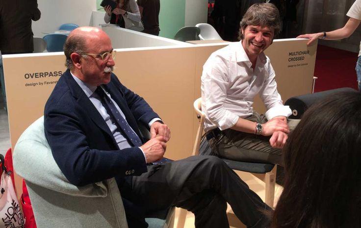Paolo e Francesco Favaretto e le loro creazioni Overpass e Helix per B-line.