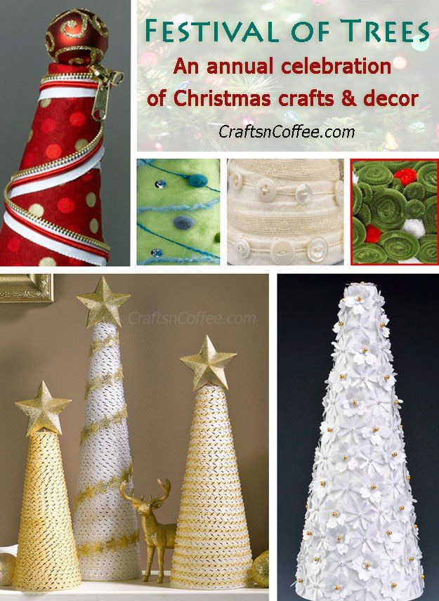 how to decorate a styrofoam cone for christmas ...