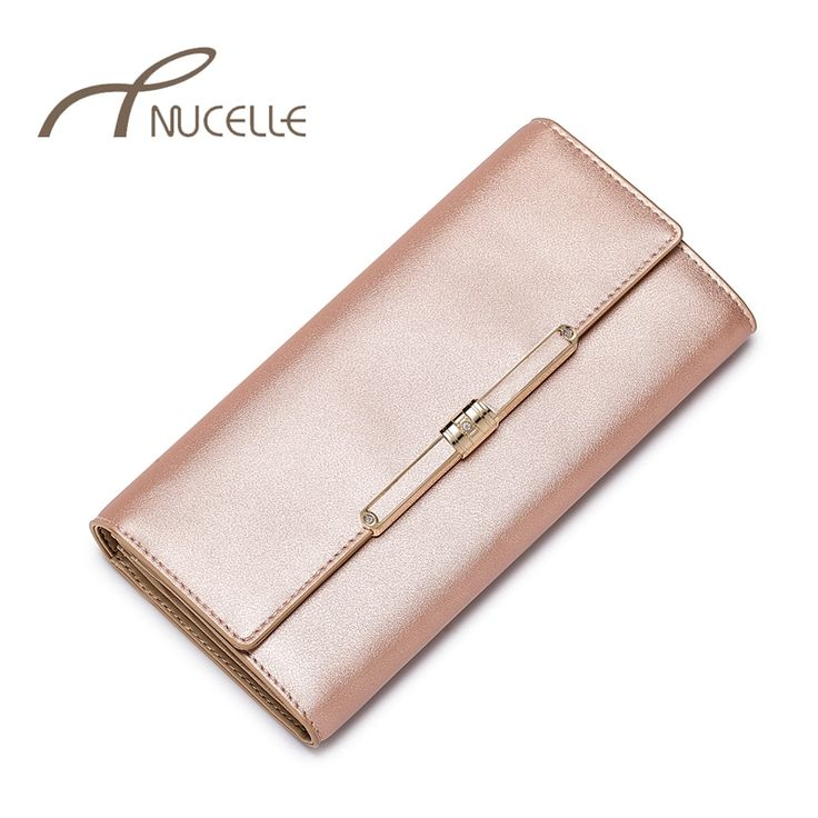 21.17$  Watch now - http://aliy8v.shopchina.info/go.php?t=32322713524 - Nucelle Brand Women Split Leather Wallet Female Elegant Cowhide Purse Ladies Fashion Long Wallets Girl Pink Money Clips 0196 21.17$ #SHOPPING