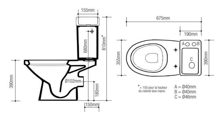 16 Dimension Wc Avec Lave Main Door Plan School Architecture How To Plan