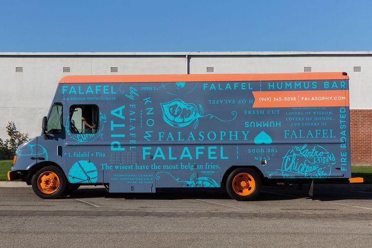 Falasophy falafel food truck brand identity food truck for Food truck design software
