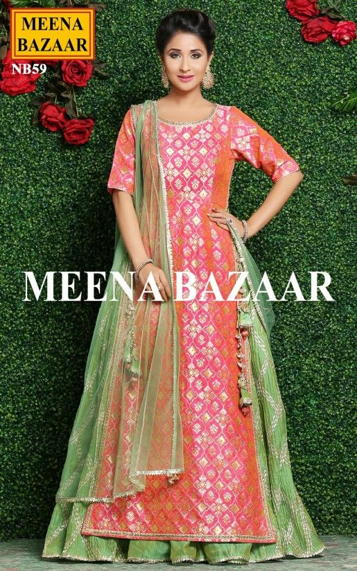8340c99ddc Brink Pink Lehenga Set Online Shopping For Ethnic Wear: Buy Designer  Sarees, Lehengas, Anarkali suits, Salwar Suits,Kurtis,Gowns –  Meenabazaar.com
