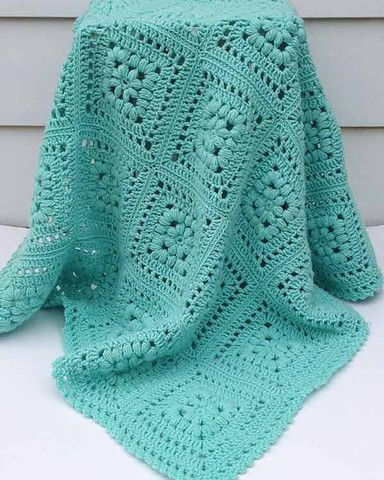 Picture of Baby Puff Square Afghan Crochet Pattern