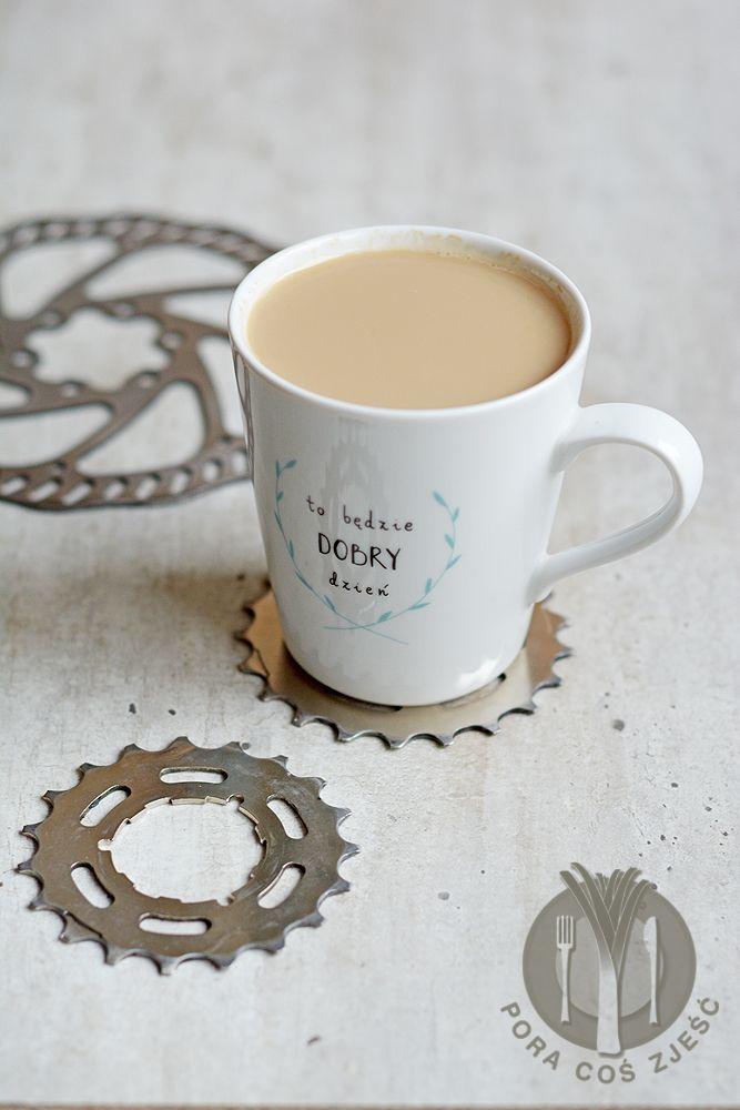 Food photography, food art - morning coffee.