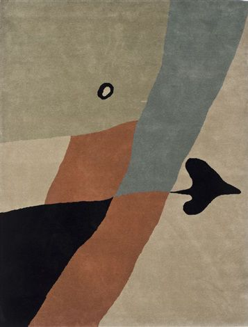 "primary-yellow: "" JEAN ARP AS DE PIQUE (wool tapestry) """