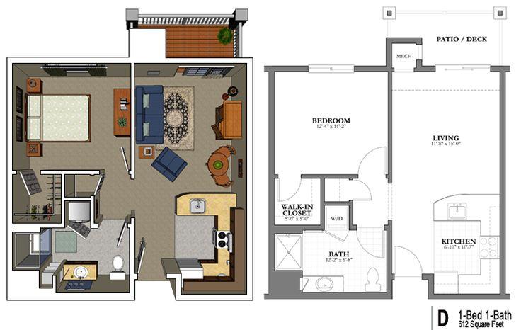 Pin by lori on one bdrm floor plan Floor plans, Floor