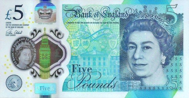 Reino Unido Emite Nuevo Billete De 5 Libras Monedas Internacionales Billetes Billete De 5