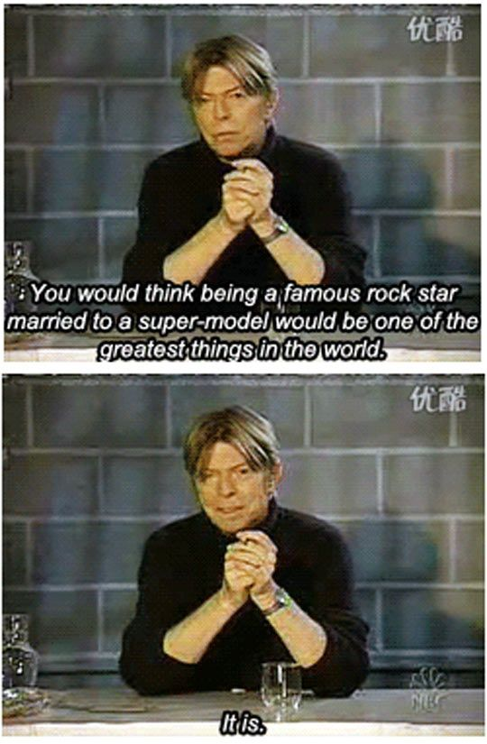 David Bowie On Life