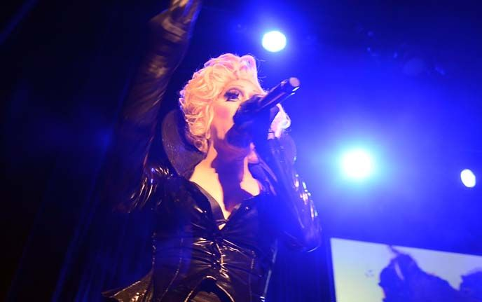 Sharon Needles and RuPaul drag queens performing in Reykjavik, Iceland at Ru Paul Battle of the Seasons show. More images and video:  http://www.lacarmina.com/blog/2015/05/blue-lagoon-iceland-swimsuit-restaurants-reykjavik/