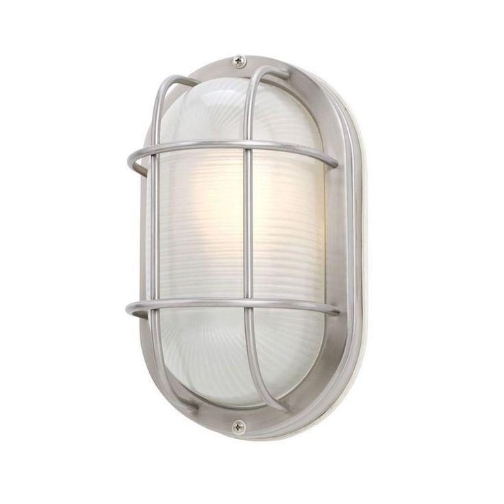 Design Classics Lighting Oval Bulkhead Marine Light with LED Bulb - 11-Inches Wide 39956 SS  LED