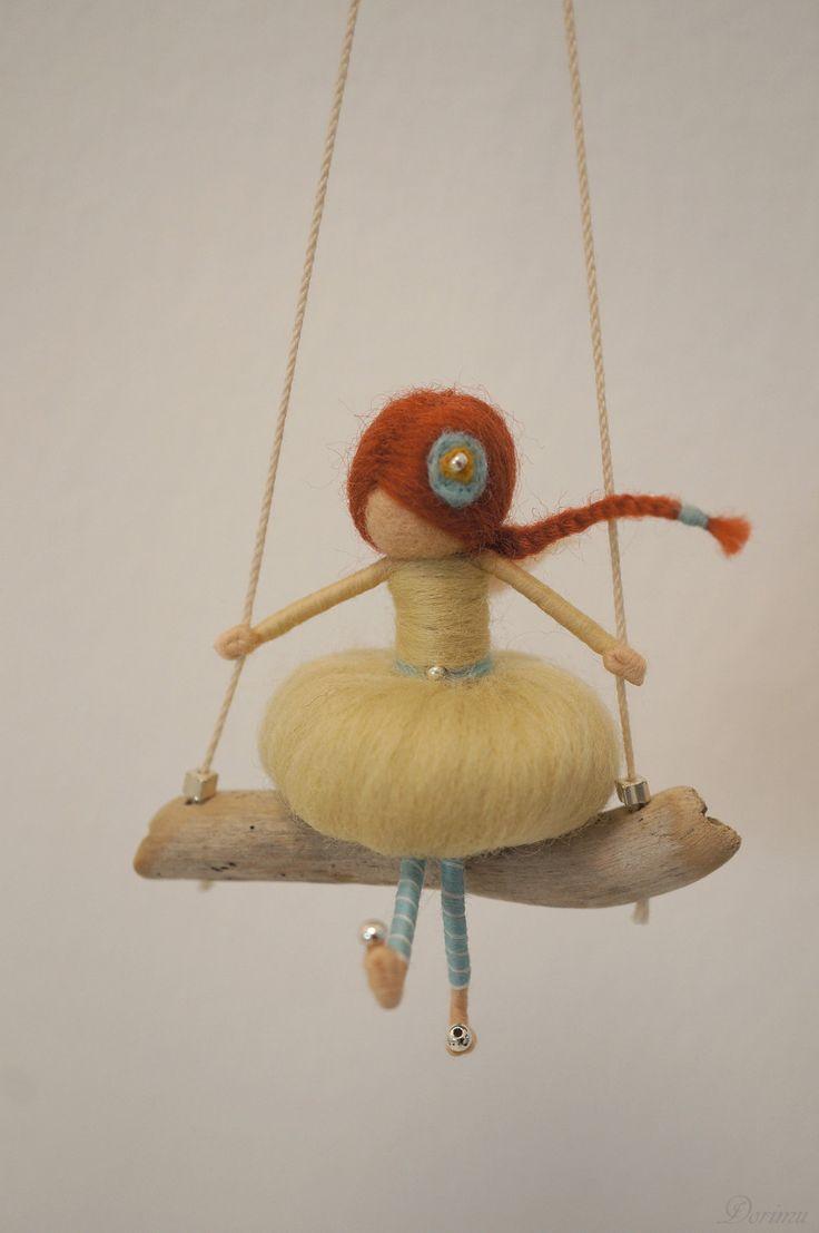 Needle felted fairy figurine