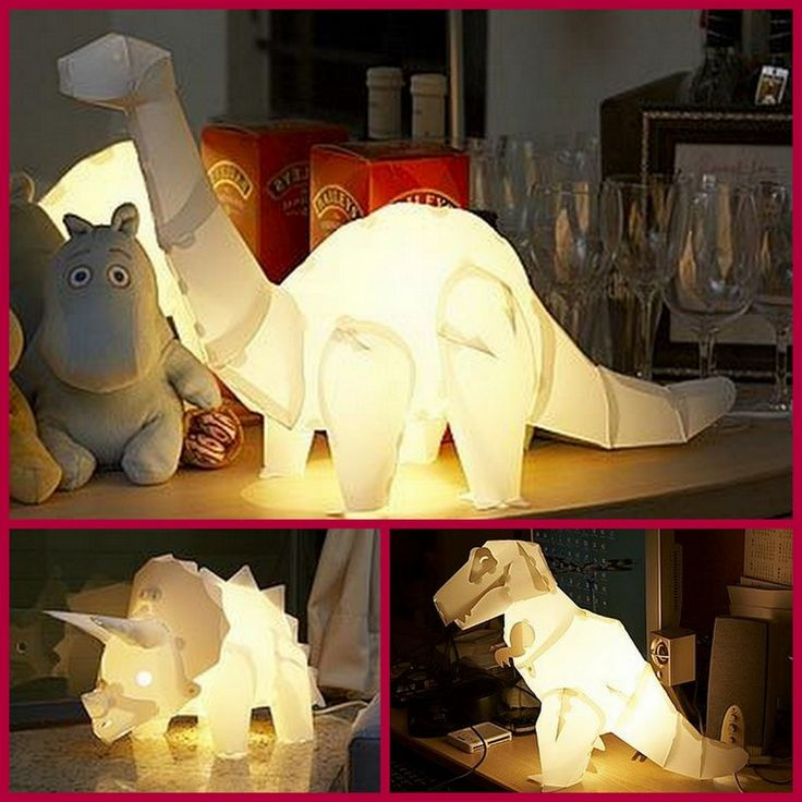 Dollar Store Crafter: Turn Empty Milk Jugs Into Dino Lamps