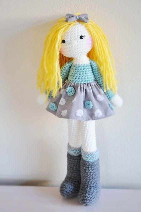 Crochet doll, made by me :)  www.linamariedolls.etsy.com
