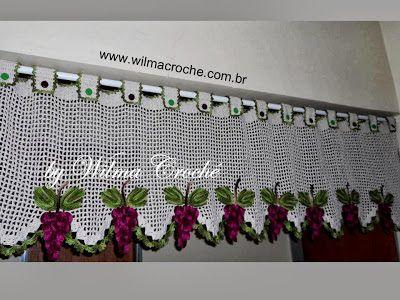 Wilma Crochê: Bandô com cachos de uvas feito em crochê