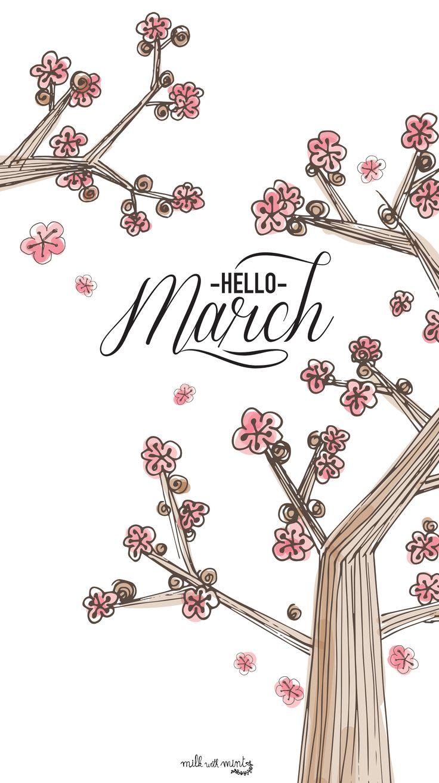 Sakura Hello March iPhone Lock Wallpaper PanPins Bullet