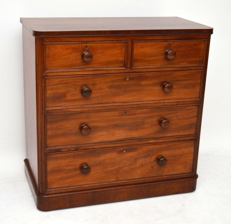 Antique Victorian Mahogany Chest of Drawers | Church Street Antiques - Antique Furniture