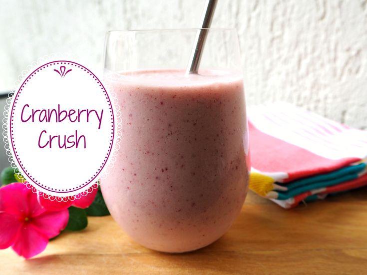 Cranberry Smoothie Recipe    #cranberry #smoothie #raspberry #vegan