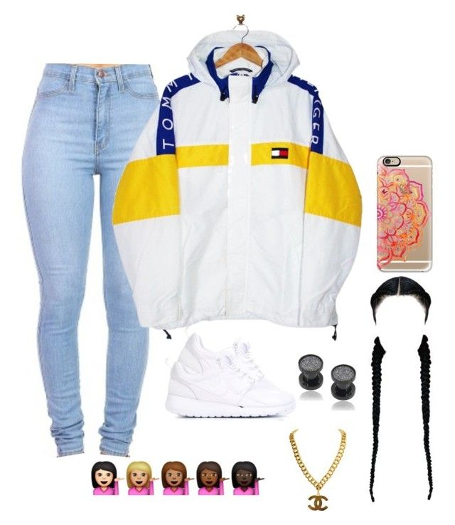 """""""Untitled #84"""" by baby-boogaloo ❤ liked on Polyvore featuring Tommy Hilfiger, Casetify, NIKE and Misbehave"""