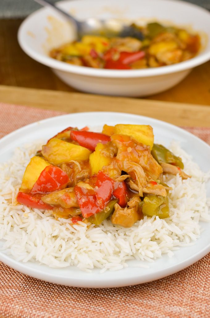 Slimming Eats Instant Pot Recipes - Sweet and Sour Chicken - gluten free, dairy free, Slimming World and Weight Watchers friendly