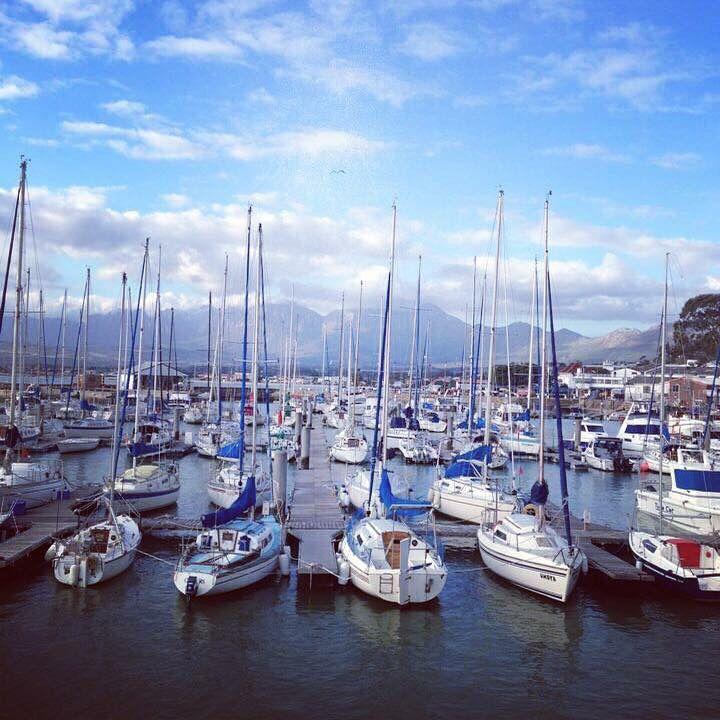 Gordon's bay harbour, false bay.  South Africa