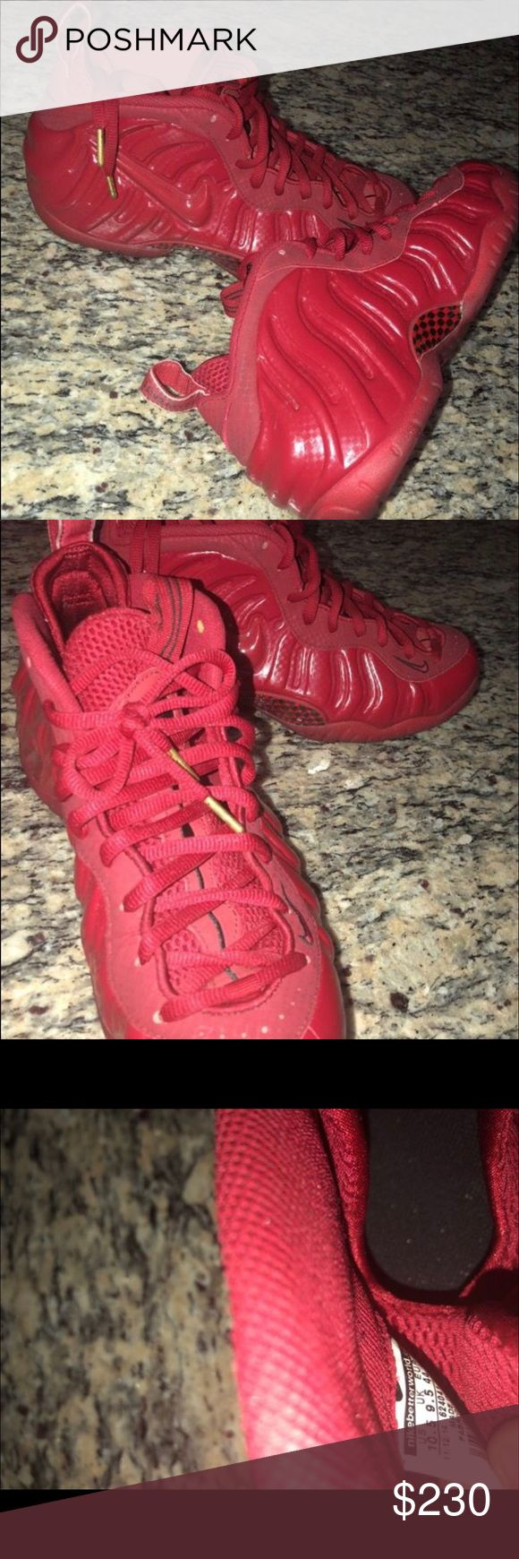 Gym Red Foamposites 8.5/10 condition , worn a couple times , size 10.5 Nike Shoes Sneakers
