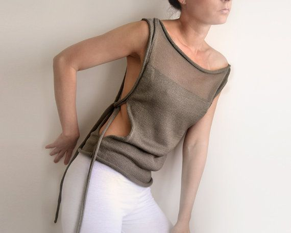 absolutely love the style of this!!  summer transparent okapi top Paris fashion France by okapiknits