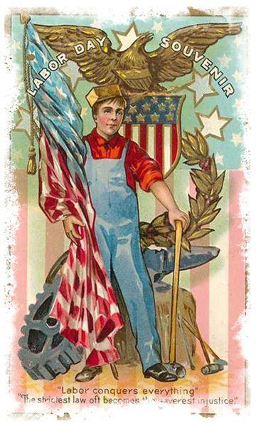 Vintage Labor Day postcard