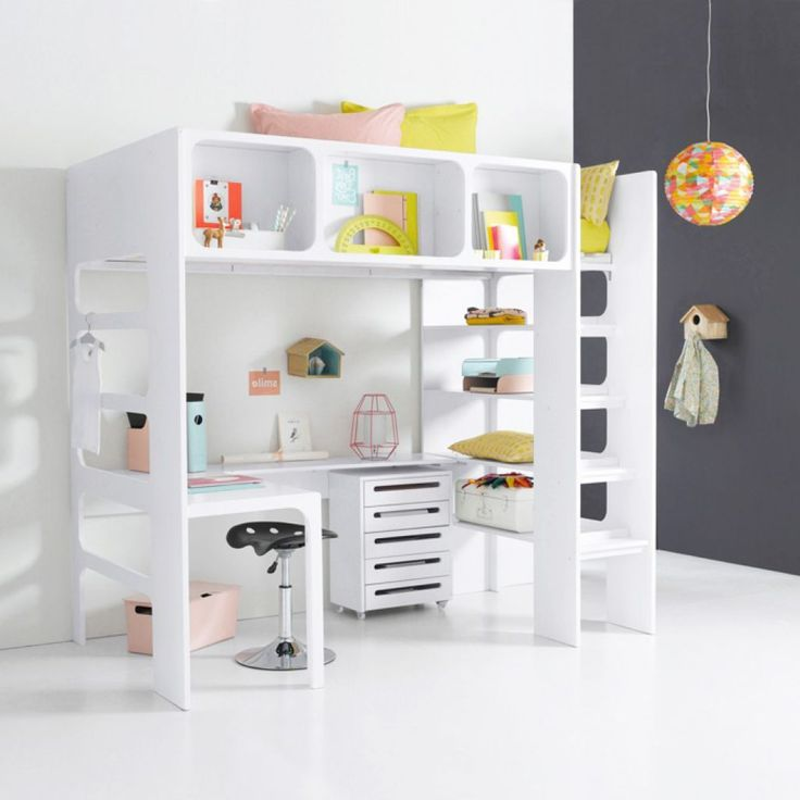 Full Size Of Kids Modern Ikea Loft Bed White Metal Frame Three Storage Drawer Lovely Wooden