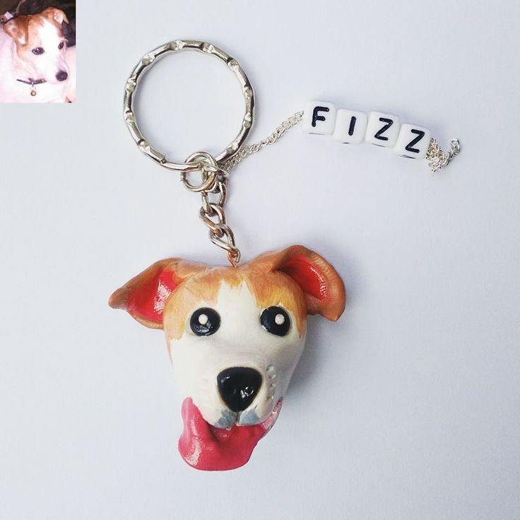 jack russel terrier, polymer clay, fimo, handmade