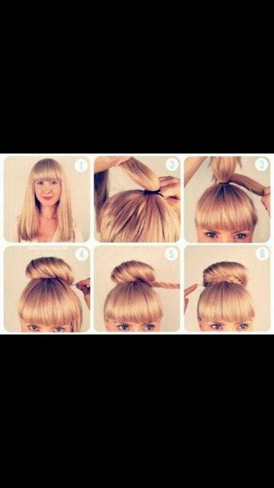 ¿Que tal este peinado? Lindo y no te morirás de calor con el pelo suelto