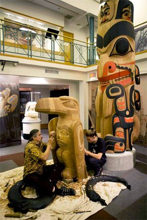 Carving at the Bill Reid Gallery of Northwest Coast Art in Vancouver, BC.